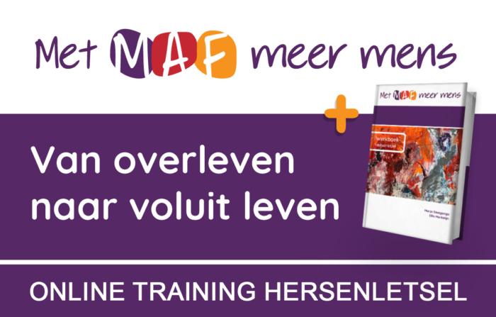 Online training hersenletsel met MAF meer mens met werkboek